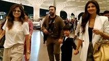 Shilpa Shetty spotted at Mumbai airport with husband Raj Kundra & Viaan; Watch video | FilmiBeat