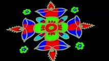 #Spot tube    Simple Flower & Spottube Rangoli Design with Beautiful Colours & Dots 6x6 For Beginners _ Easy Daily    सरल फूल और सुंदर रंग और डॉट्स के साथ रंगोली डिजाइन शुरुआती के लिए 6x6 _ आसान दैनिक
