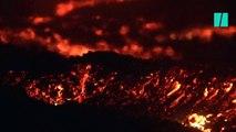 Les Réunionnais se ruent au Piton de la Fournaise en éruption pour immortaliser le phénomène
