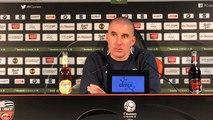 Réaction de Laurent Batlles (Troyes) après la victoire face à Lorient (0-1)