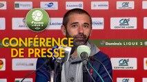 Conférence de presse US Orléans - Châteauroux (1-1) : Didier OLLE-NICOLLE (USO) - Nicolas USAI (LBC) - 2019/2020
