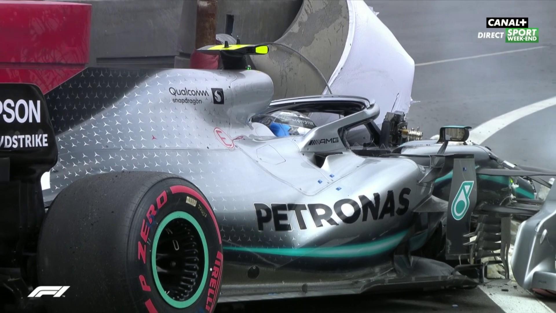 La pole pour Verstappen après ce crash de Bottas - Grand Prix du Mexique