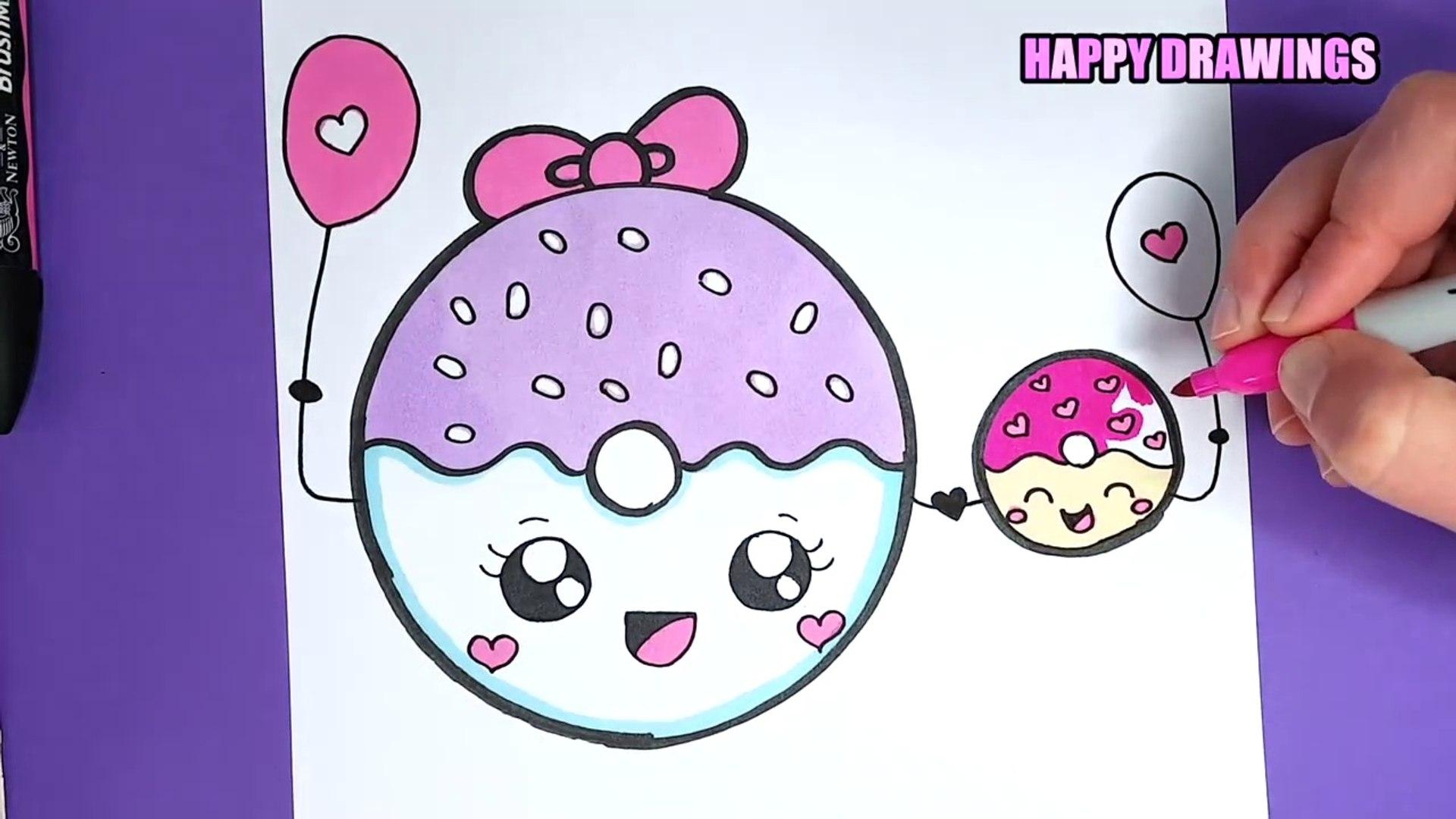 Comment Dessiner Un Donut Kawaii Tutoriel De Dessin