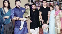 Taimur Ali Khan celebrates Diwali with Sara Ali Khan, Kareena Kapoor & Saif Ali Khan | FilmiBeat