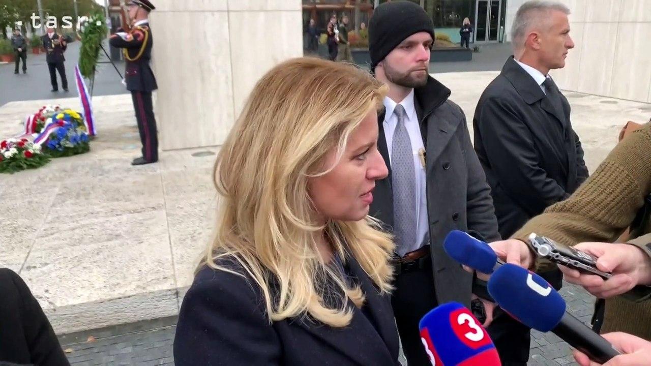 Prezidentka SR Z. Čaputová: Dnešný deň je významný preto, že položil základy našej vlastnej štátnosti