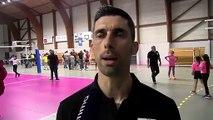 André Sa après la victoire d'Istres Provence Volley contre Vitrolles