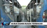 16 Bangkai Bus Damri Terbakar di Depo Damri Bandung
