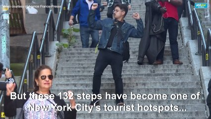 Tourists from all over the world flock to 'Joker' stairs in the Bronx