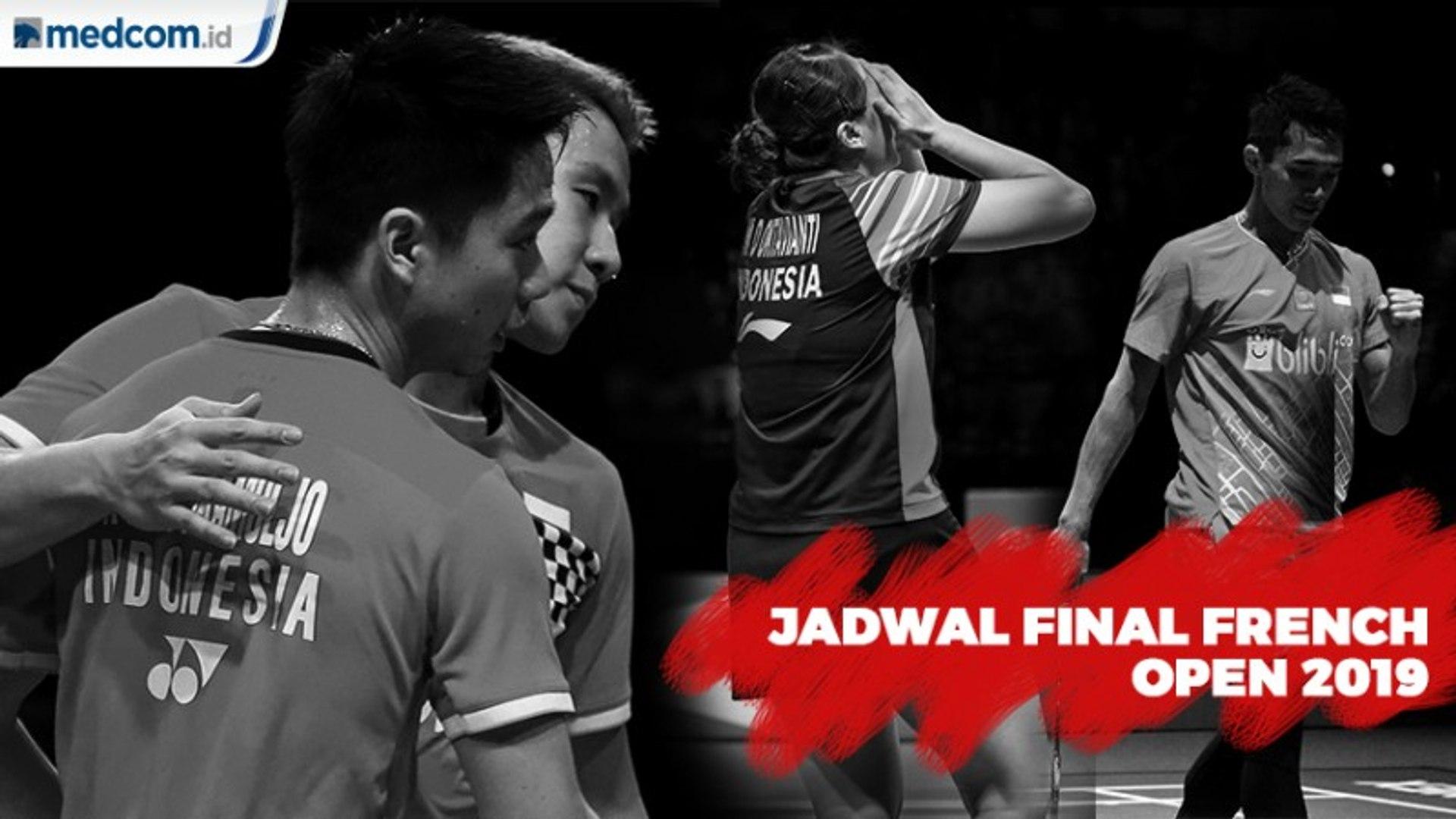 3 Wakil Indonesia Berburu Gelar di Final French Open 2019 Hari ini