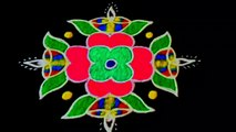 #Spot Tube    Simple Spot Tube Rangoli Design with Beautiful Colours & Dots 9x1 for Festivals & Competitions _ Diwali