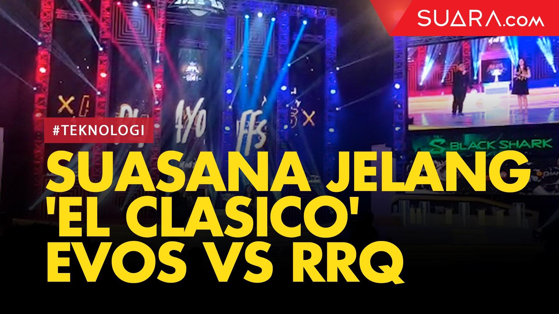 Bergemuruh Suasana Jelang El Clasico EVOS Vs RRQ Di MPL Season 4