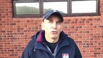 Simon Smith reacts to Scarborough RUFC's win over Durham City