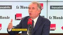 """François Bayrou : """"En quoi le modèle de 1905 est-il en danger ? A partir du moment où on n'accepte plus cette règle simple : """"La loi protège la foi mais la foi ne fait pas la loi""""."""""""