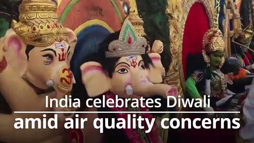 India celebrates Diwali amid air quality concerns