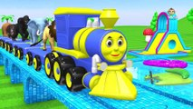 """Baby Fun Time with Animal Toy Train Slider at Water Pool Toys """"Pool Floats"""" (Kidzee Rhymes)"""