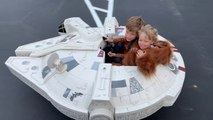 Dad Builds Star Wars Millennium Falcon Model for His Kids