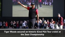 Tiger Woods claims record-equalling PGA Tour win