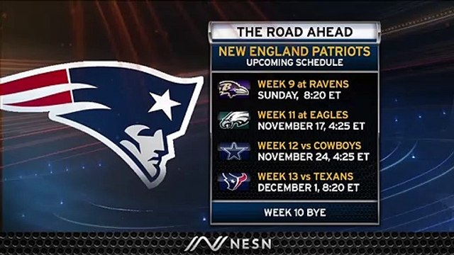 Patriots Begin Tough Stretch Of Games Week 9 When They Take On Ravens