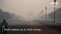Delhi shrouded in smog after Diwali celebrations