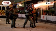 Hong Kong protest: Protesters hurl petrol bombs after police fire tear gas to clear rally