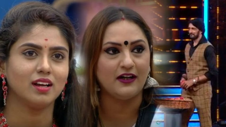 Bigg Boss Kannada 7 : Sujatha apologizes Chaitra Kotur for apple matter.