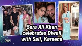 Sara Ali Khan celebrates Diwali with Saif, Kareena