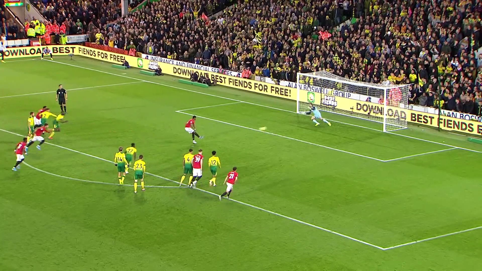 10. Hafta / Norwich City - Manchester United: 1-3 (Özet)