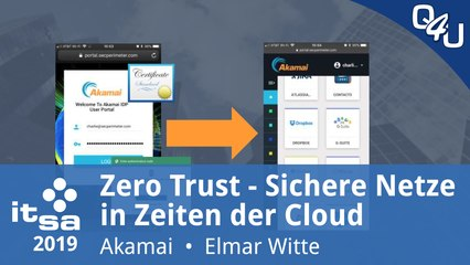 it-sa 2019: Zero Trust - Sichere Netze in Zeiten der Cloud - Akamai | QSO4YOU Tech