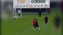 Dribbling, assist e gol  l'allenamento di Modric e Isco è uno show imperdibile