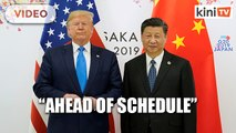 Trump: China trade deal 'ahead of schedule'
