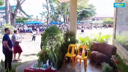 Students, teachers evacuate to open space after Magnitude 6.6 quake in Northern Mindanao