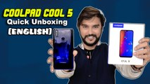 Coolpad Cool 5 Quick Unboxing And First Impression (ENGLISH)