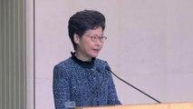 Hong Kong leader says economy looks 'very grim'
