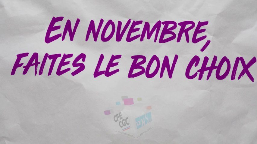En novembre, faites le bon choix !