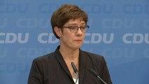 Zoff in der CDU - Kramp Karrenbauer unter Druck