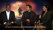 Star Wars The Mandalorian Pedro Pascal, Gina Carano & Carl Weathers