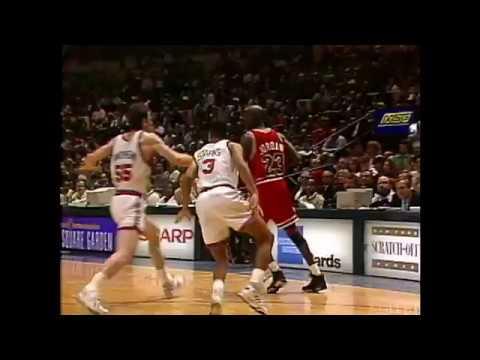 1991 NBA Playoffs - Jordan'ın Ewing Üzerinden Vurduğu Unutulmaz Smaç