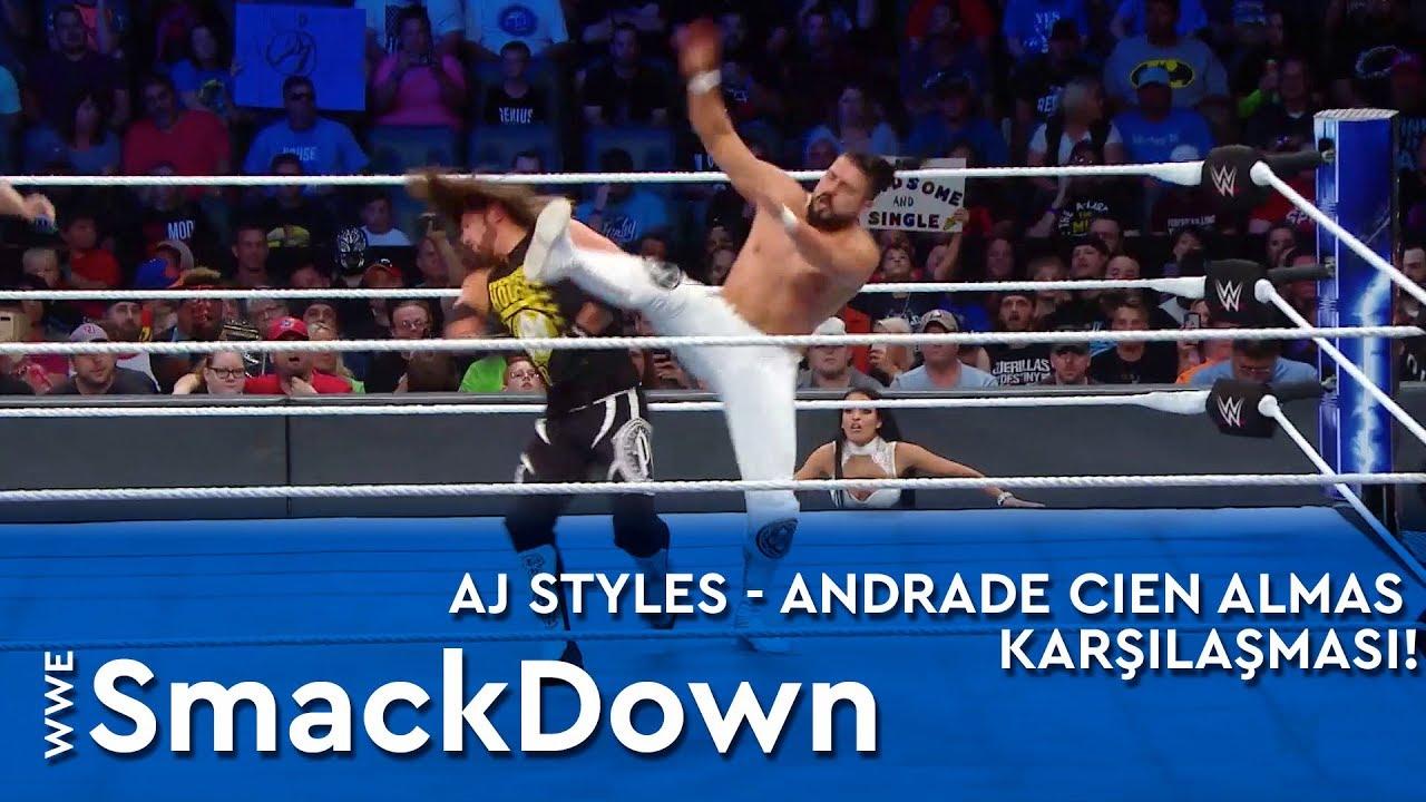 AJ Styles - Andrade Cien Almas Karşılaşması!