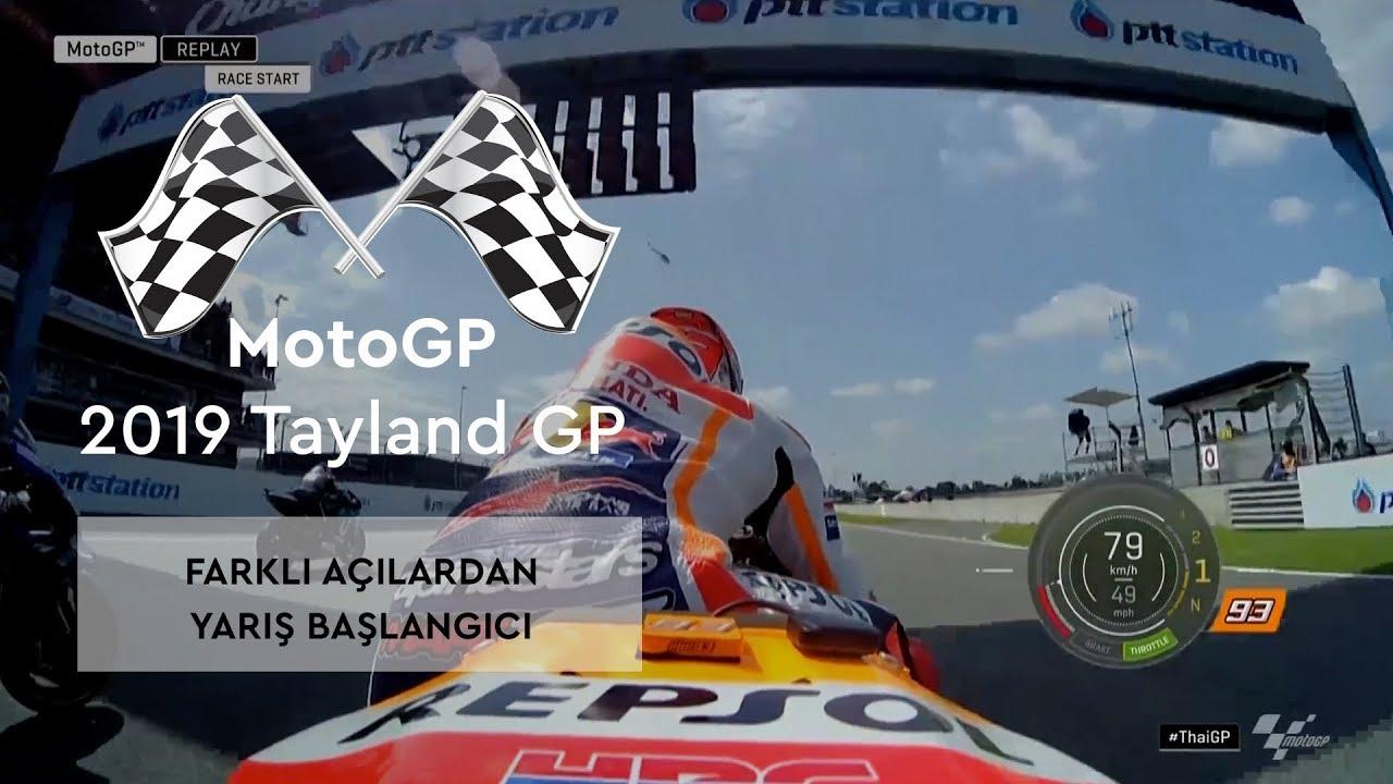 Farklı Açılardan Yarış Başlangıcı (MotoGP 2019 - Tayland Grand Prix)