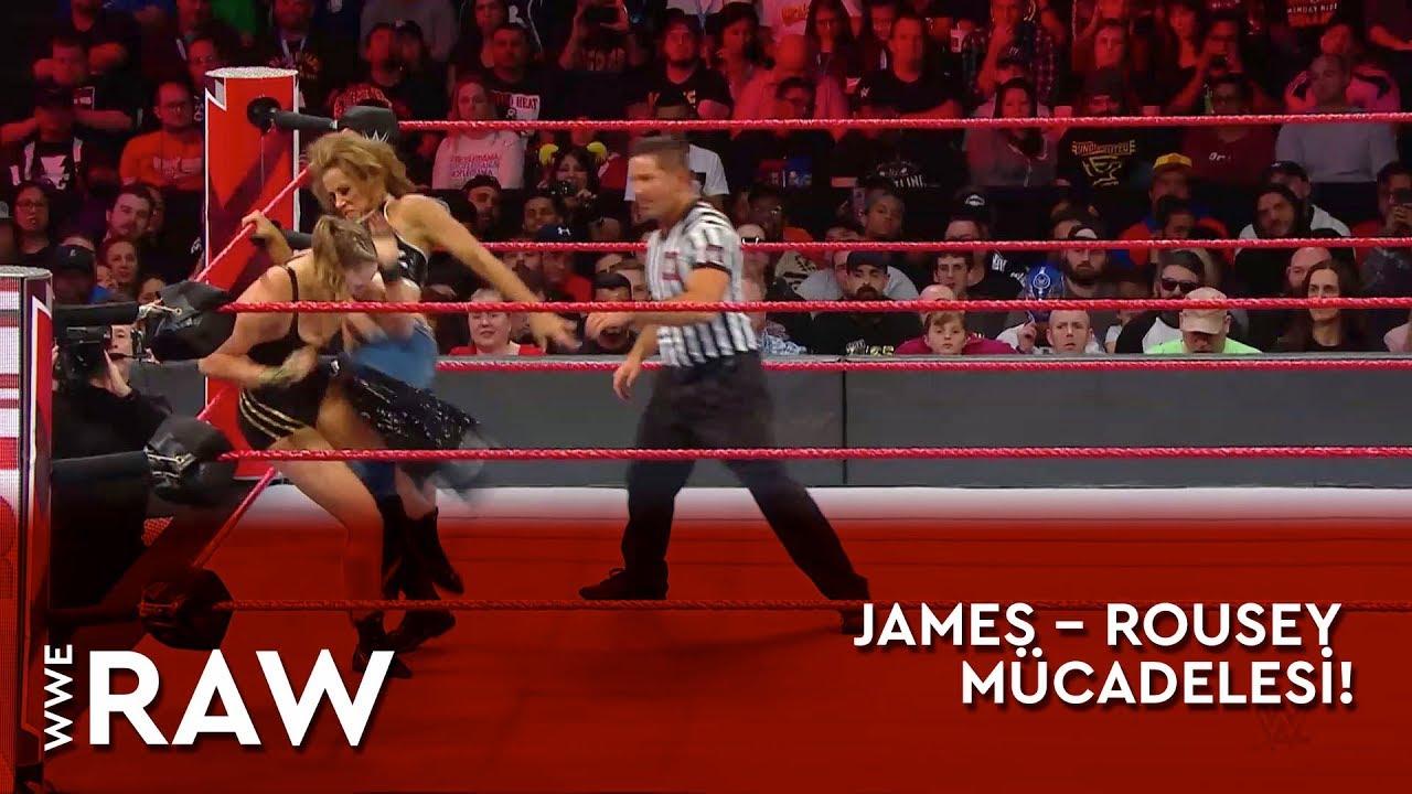 WWE Raw | James – Rousey Mücadelesi! (Türkçe Anlatım)