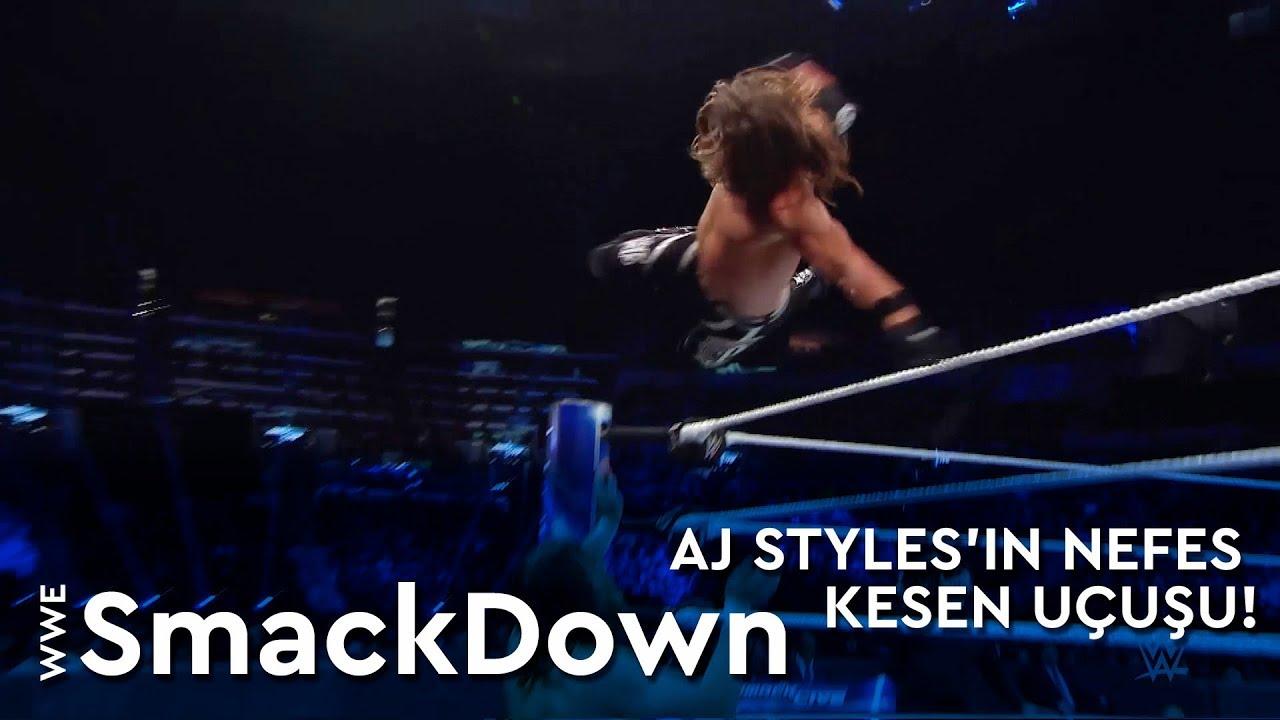WWE SmackDown | AJ Styles'in Nefes Kesen Uçuşu! (Türkçe Anlatım)