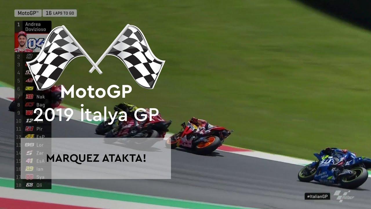 Marc Marquez Atakta! (MotoGP 2019 - İtalya Grand Prix)
