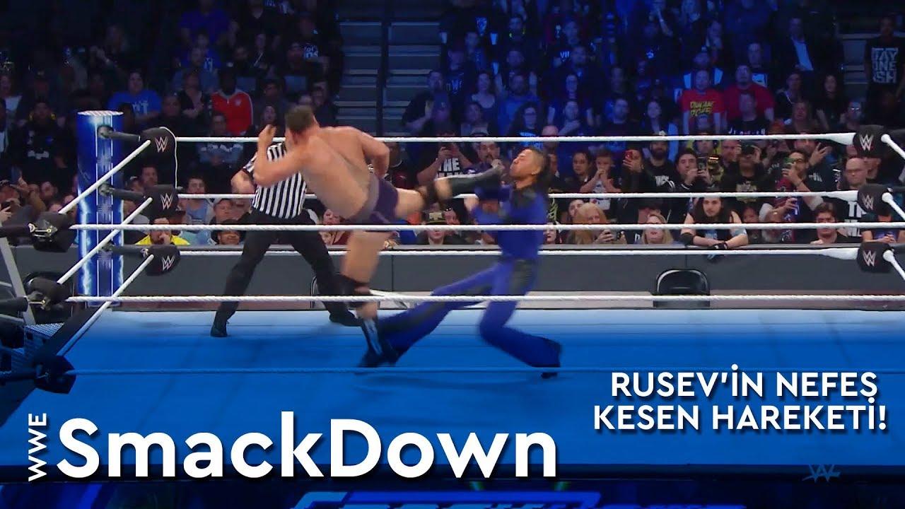 WWE SmackDown | Rusev'in Nefes Kesen Hareketi! (Türkçe Anlatım)