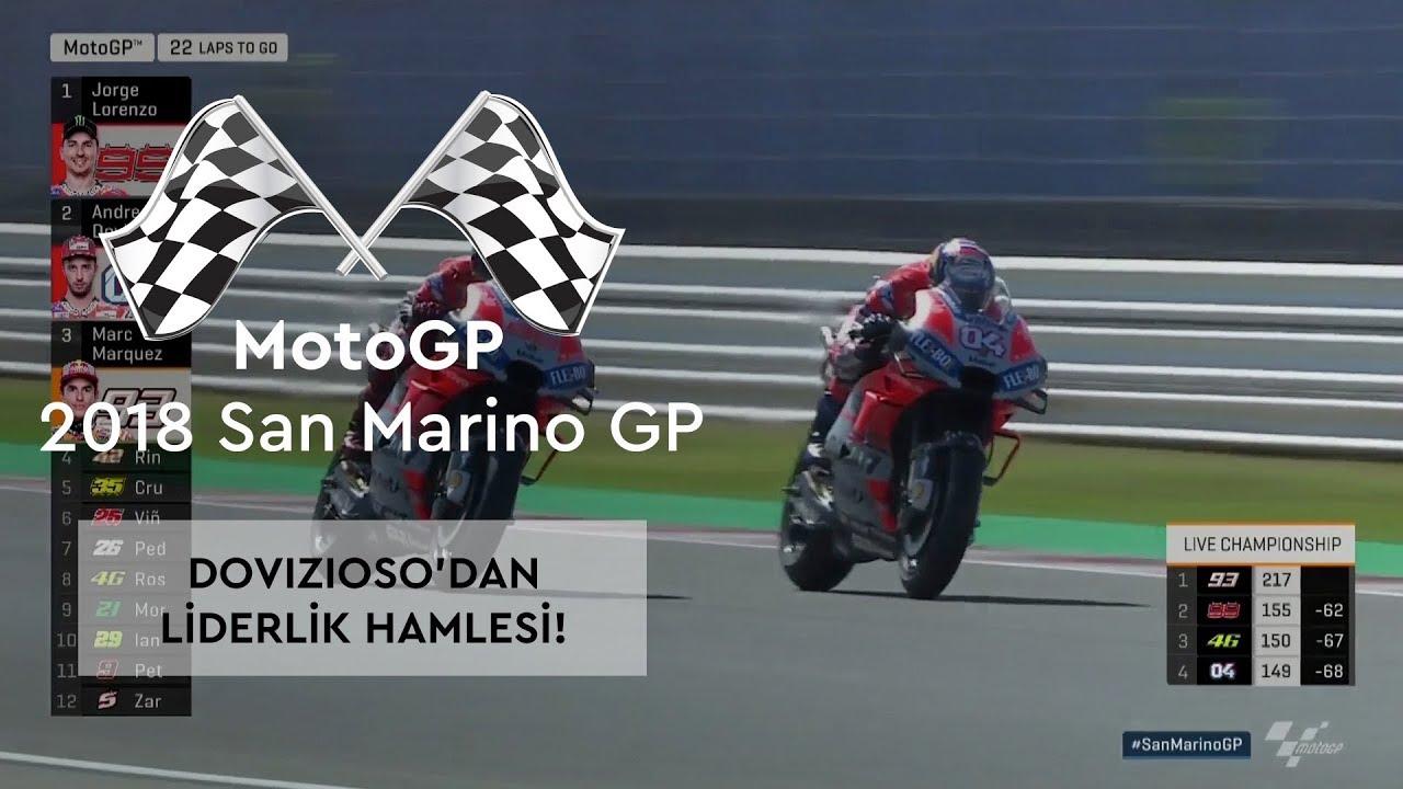 Dovizioso'dan Liderlik Hamlesi! (2018 MotoGP - San Marino Grand Prix)