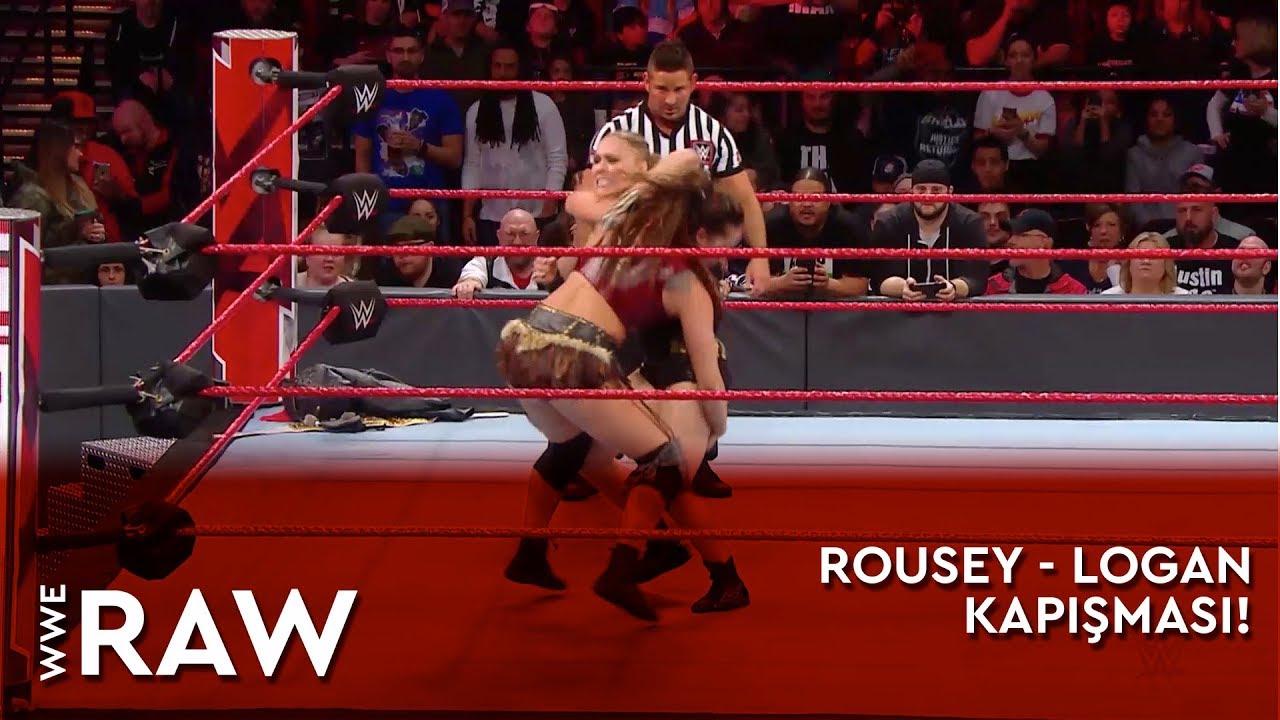 WWE Raw | Ronda Rousey - Sarah Logan Kapışması! (Türkçe Anlatım)