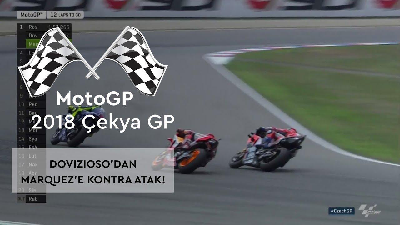 Dovizioso'dan Marquez'e Kontra! (2018 MotoGP - Çek Cumhuriyeti Grand Prix)