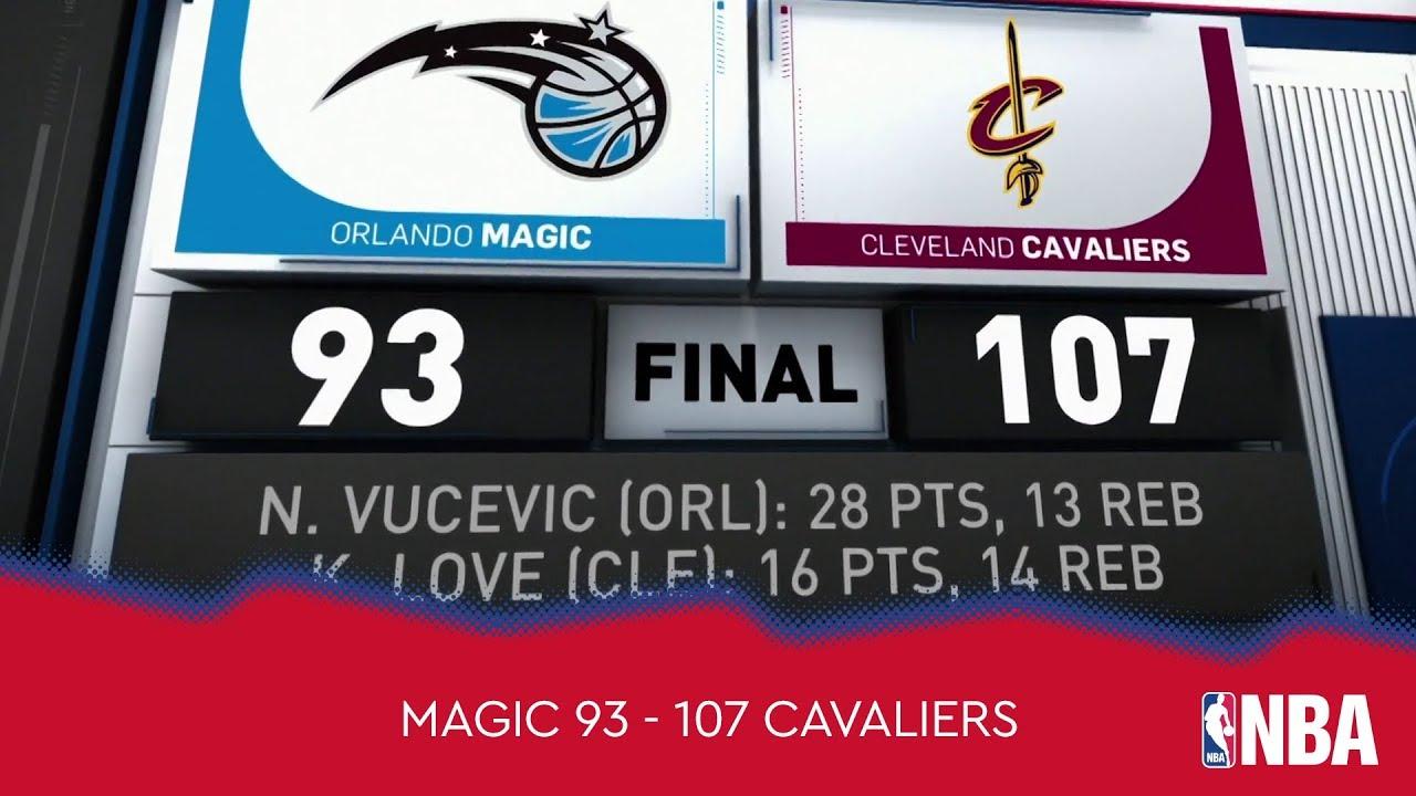 Orlando Magic 93 - 107 Cleveland Cavaliers
