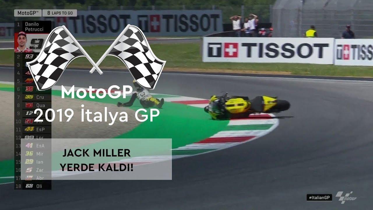 Jack Miller Yerde! (MotoGP 2019 - İtalya Grand Prix)