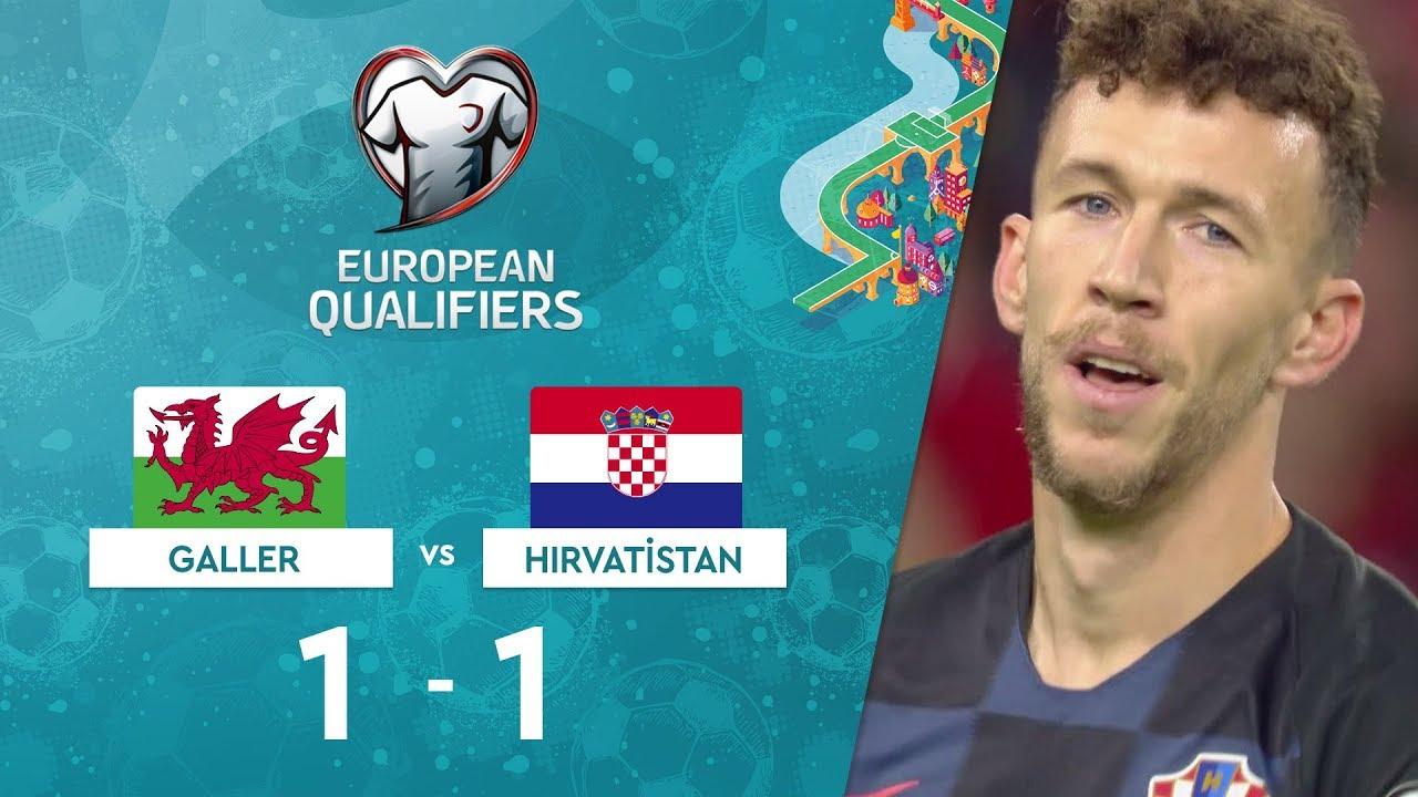 Galler 1-1 Hırvatistan | EURO 2020 Elemeleri Maç Özeti - E Grubu