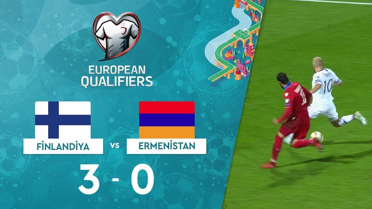 Finlandiya 3-0 Ermenistan | EURO 2020 Elemeleri Maç Özeti - J Grubu